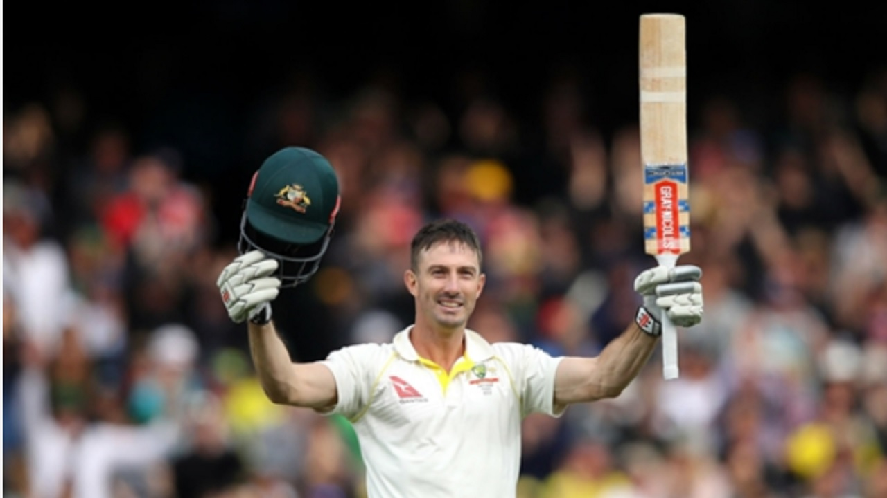 Shaun Marsh celebrates his Ashes ton against England in Adelaide.