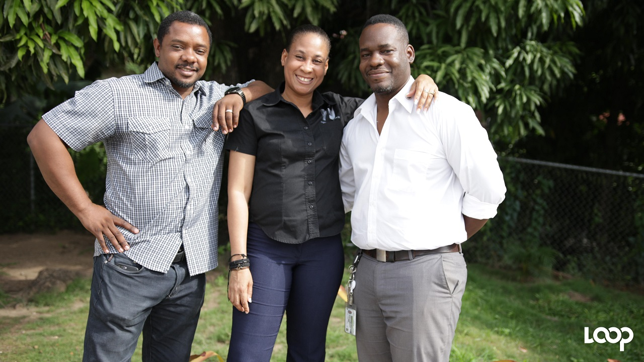 The team, comprising husband and wife Adrian Whyte (right) and Chevonnese Chevers Whyte  (centre) along with Kevin Jackson, has been operating Night Vision since 2006