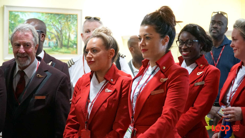 Inaugural flight from Heathrow, London to Bridgetown, Barbados. (PHOTO: Richard Grimes)