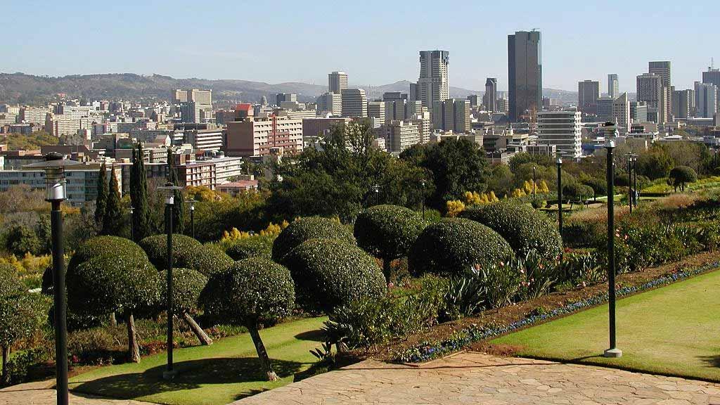 Pretoria, een van de hoofdsteden van Zuid-Afrika.