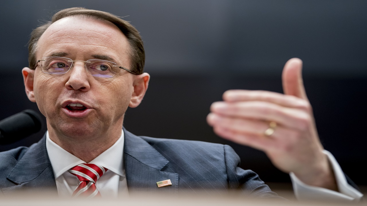 Deputy Attorney General Rod Rosenstein speaks before a House Committee on the Judiciary oversight hearing on Capitol Hill, Wednesday, Dec. 13, 2017 in Washington.
