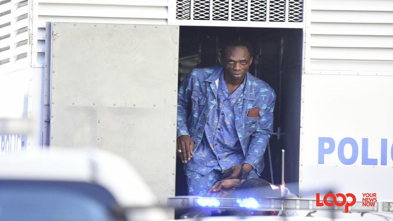 Ninjaman arrives at court for sentencing last Friday. (PHOTO: Marlon Reid)