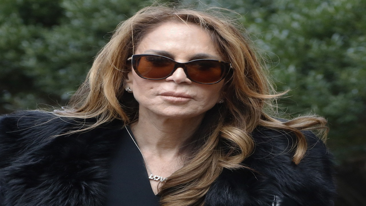Blogger Pamela Geller arrives Tuesday, Dec. 19, 2017, at federal court in Boston for the sentencing hearing for David Wright, convicted of leading an Islamic State group-inspired plot to behead Geller.