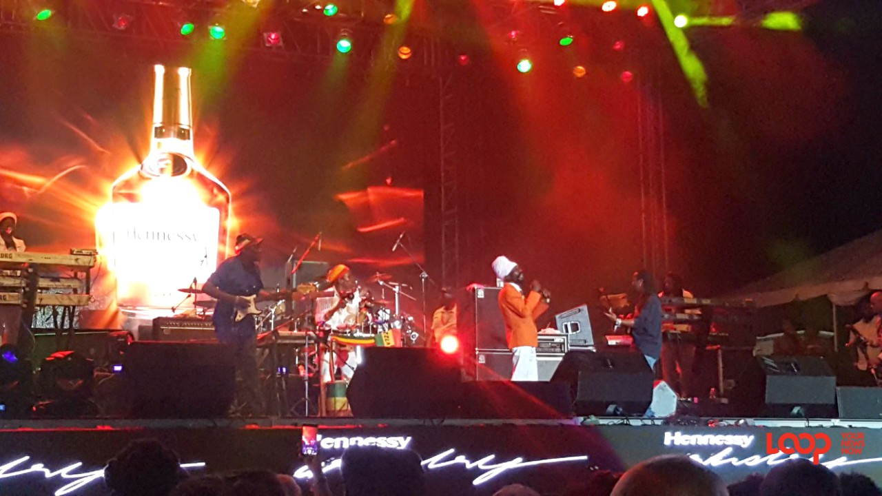 Sizzla Kalonji in Barbados at Hennessy Artistry 2017 at Kensington Oval.