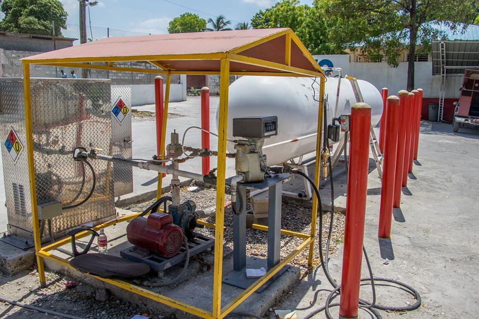 La station-propane d'Autogaz à Delmas 33. / Crédit photo : Loop Haiti- Vladjimir Legagneur.