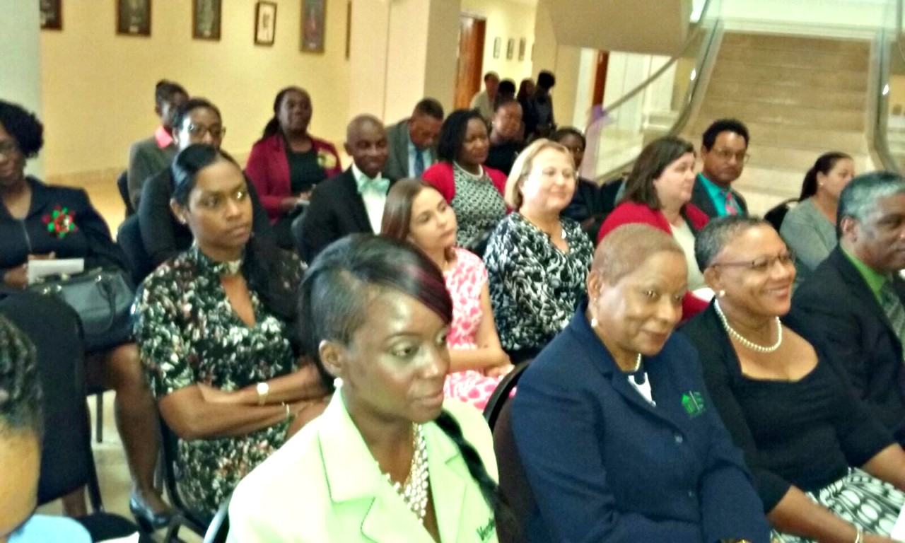 Members of the audience at the Barbados Drug Treatment Court second graduation.