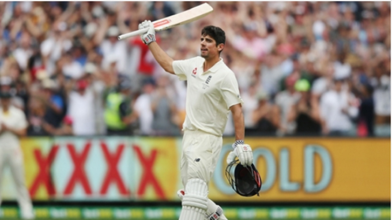 England opener Alastair Cook.