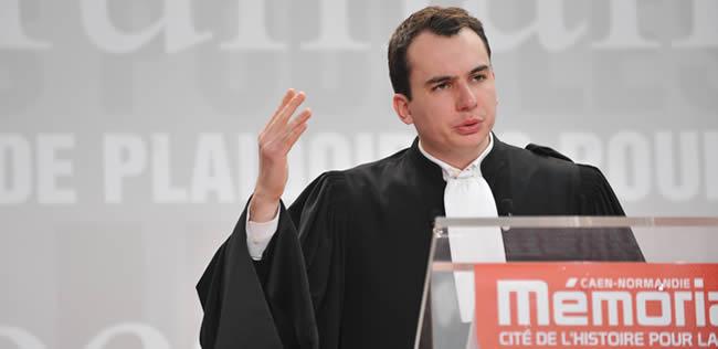 Le jeune avocat du Barreau de Lille, Me Charles Merlen
