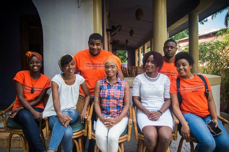 L'équipe de la campagne #16JoursActivisme. Photo: Jeho-Nephtey Abraham