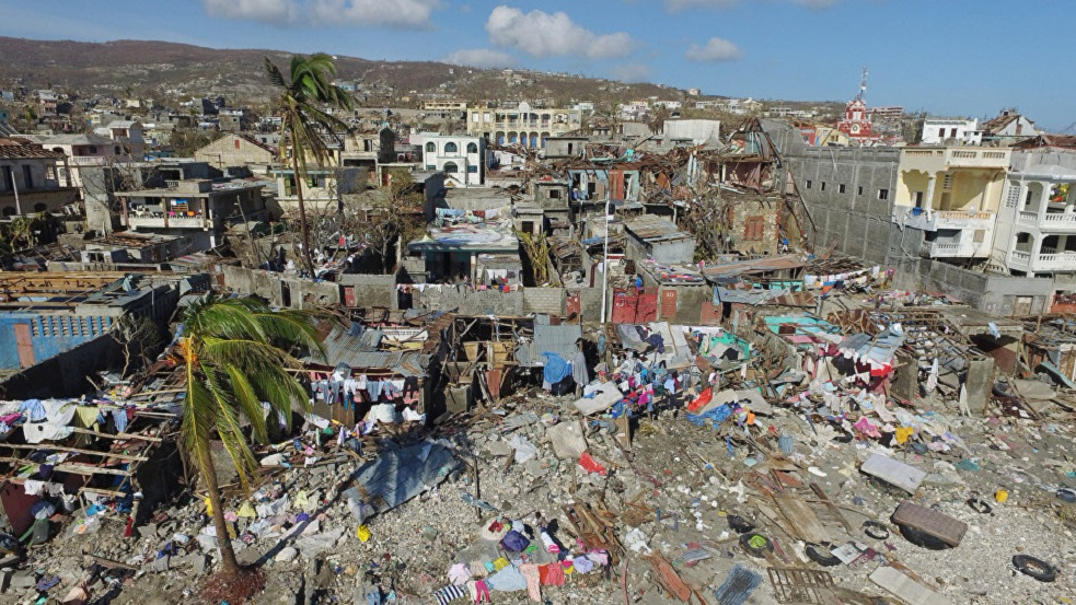 Photo: In 2016, Hurricane Matthew caused widespread devastation in Haiti. In 2017, the Hurricane Irma, the largest hurricane ever recorded, devastated much of the North-Eastern Caribbean.