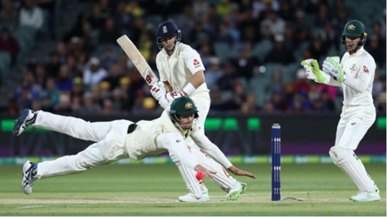 England captain Joe Root batting against Australia in Adelaide.