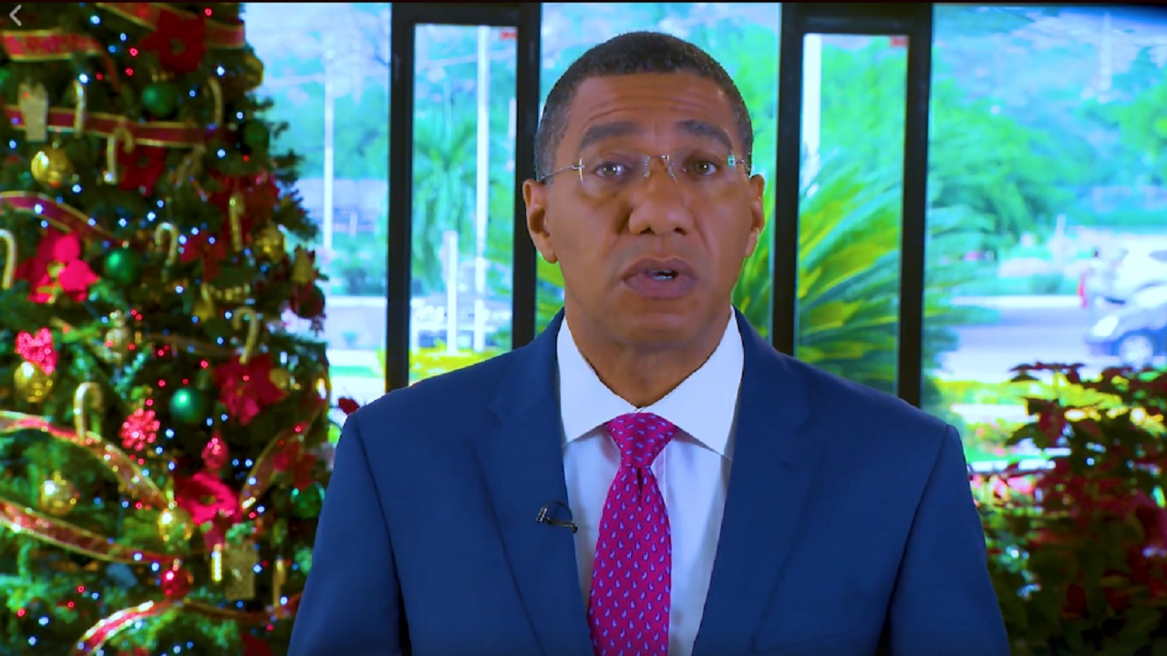 Prime Minister Andrew Holness delivering his Christmas Day 2017 Message