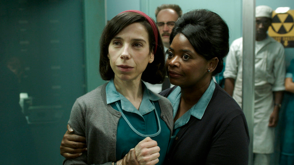"This image released by Fox Searchlight Pictures shows Sally Hawkins, left, and Octavia Spencer in a scene from the film ""The Shape of Water."" (Fox Searchlight Pictures via AP)"