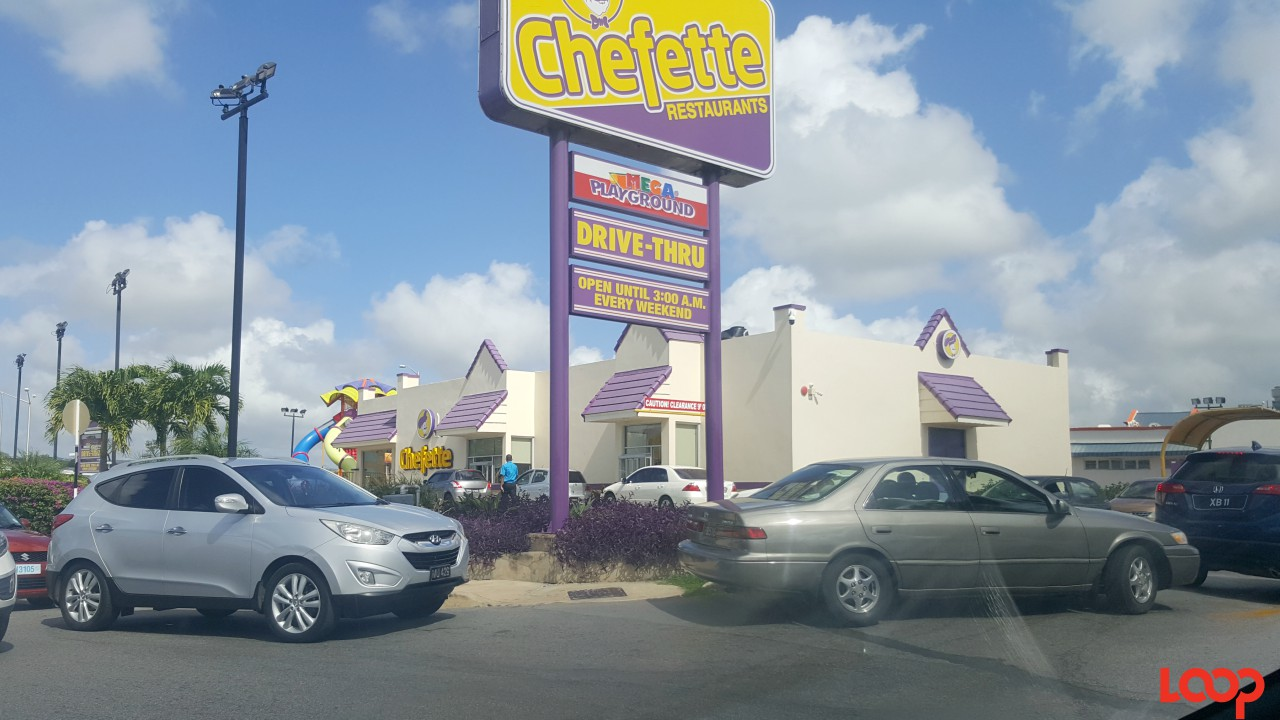 Chefette Warrens had an extremely long line.