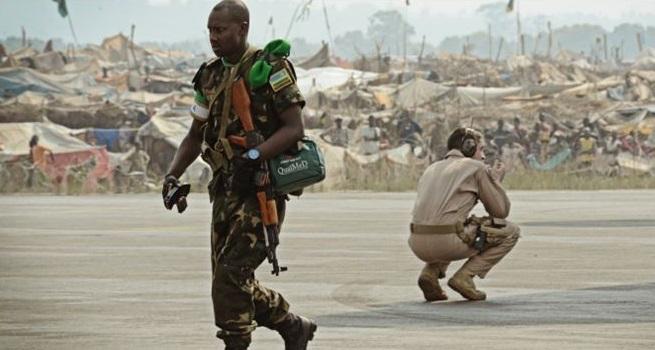 Soldat en Centrafrique. Photo : afriquedecryptages
