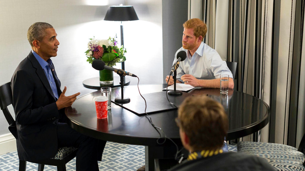 Prince Harry interviews Barack Obama for BBC4 interview
