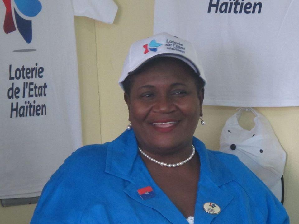 Marie Margareth Fortune, Directrice de la Loterie de l'Etat Haïtien (LEH). Photo : Page Facebook de MMF