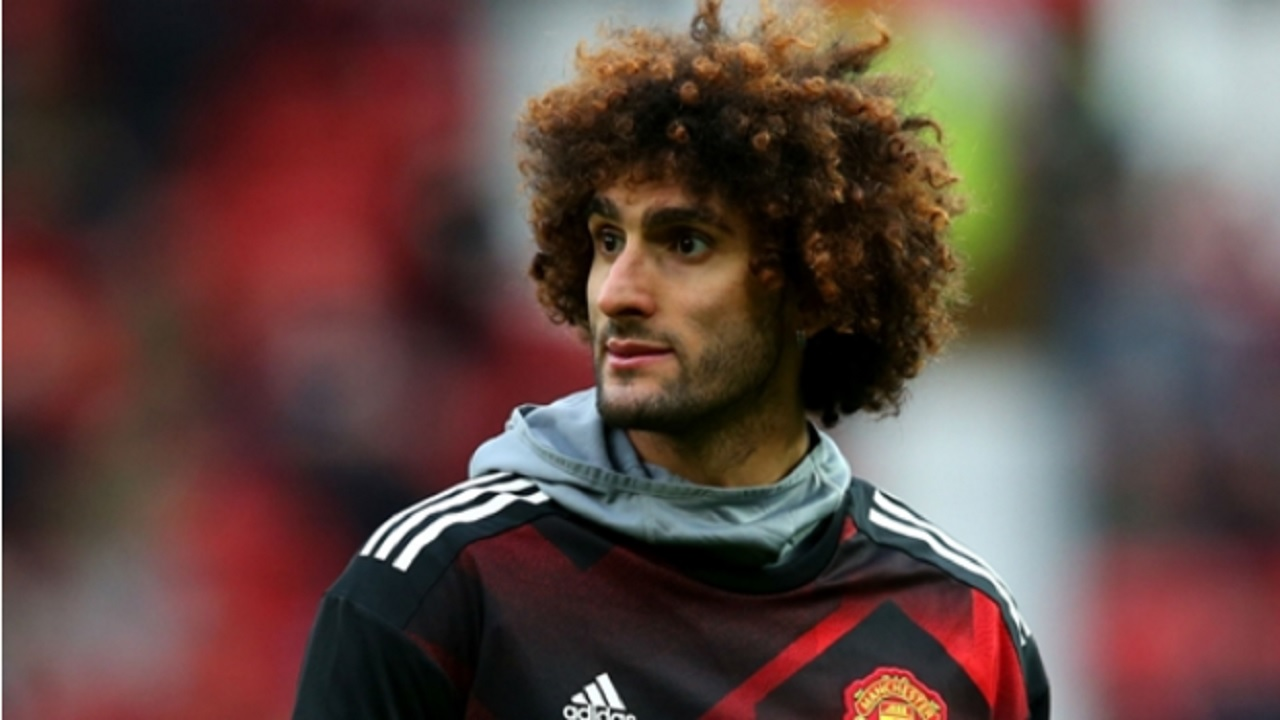 Manchester United midfielder Marouane Fellaini.
