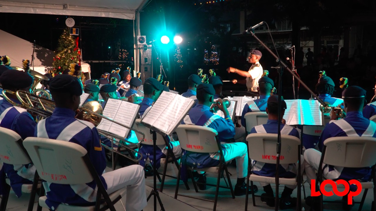 Barbados Cadet Corps performing at the first Christmas in the Square concert, earlier this month. (PHOTO: Richard Grimes)
