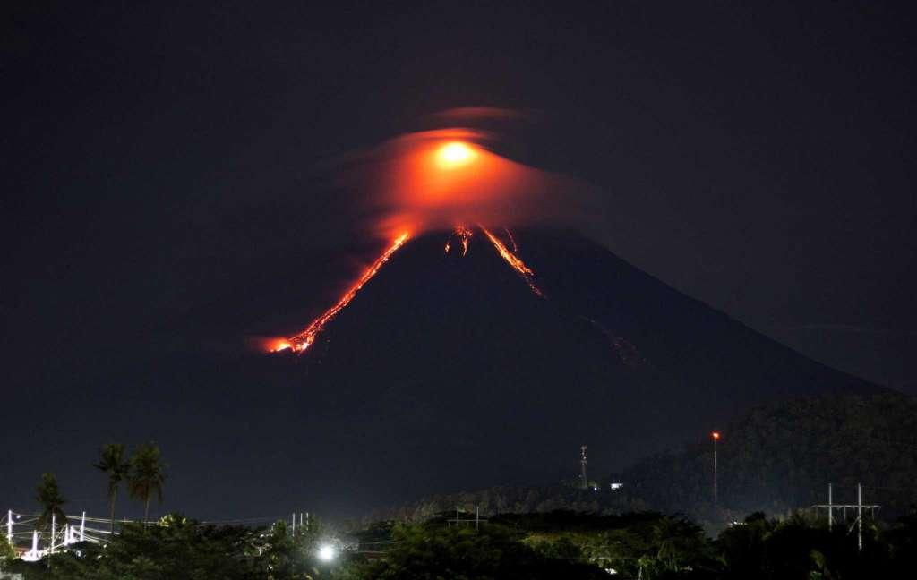 Philippines volcano spews lava; explosive eruption feared