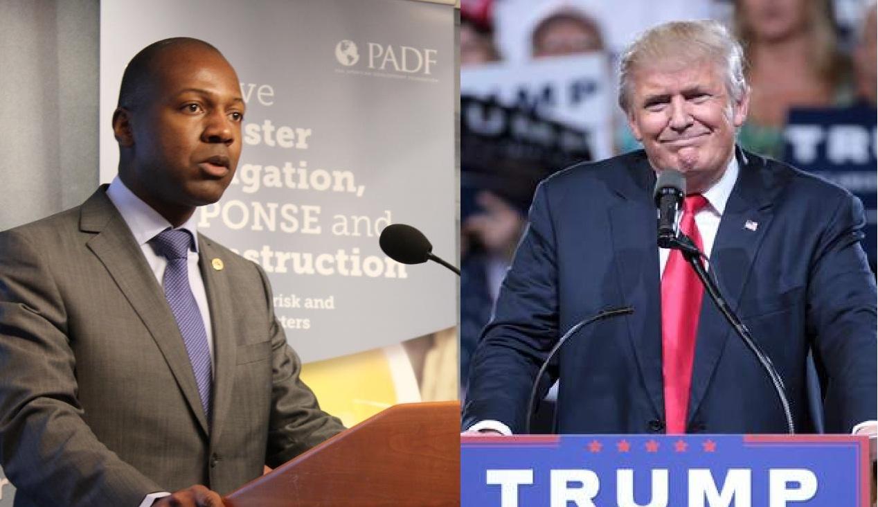 L'Ambassadeur haïtien Paul Altidor et le Président américain Donald Trump