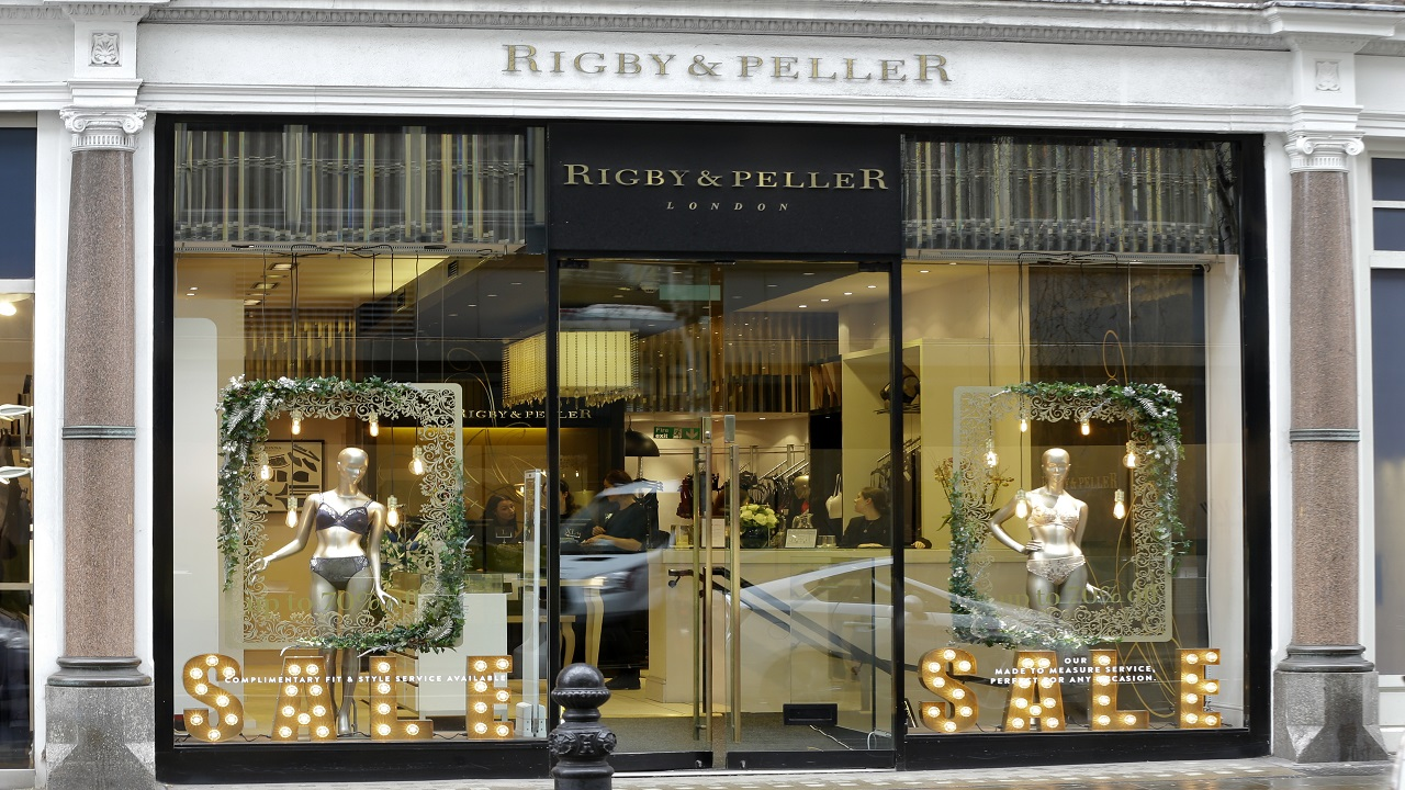 A general view of lingerie boutique Rigby&Peller in Chelsea London, Thursday, January 11, 2018. (AP Photo/Alastair Grant)