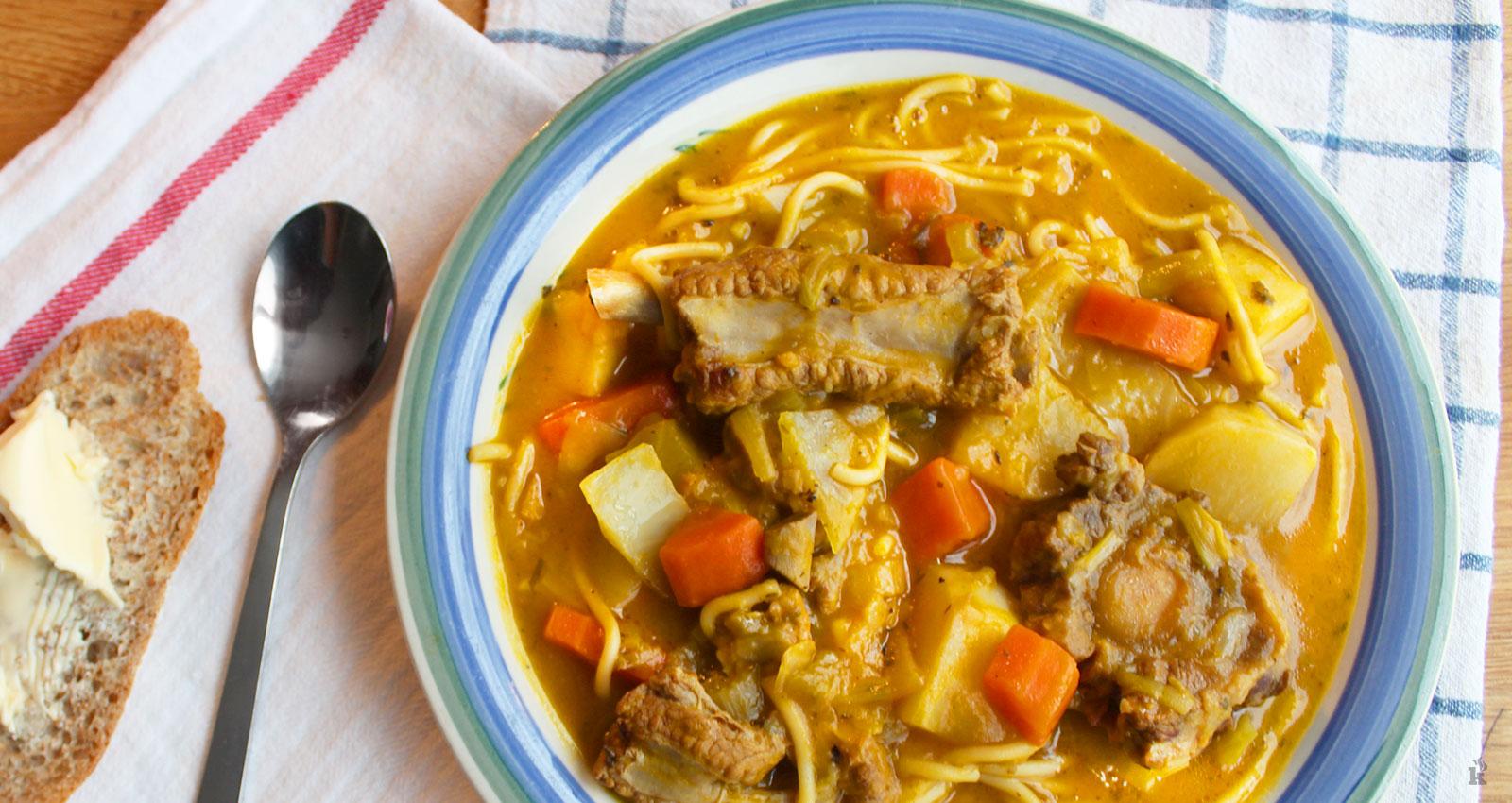 Cuisson de soupe au giraumon. Photo; Kendy Kizin