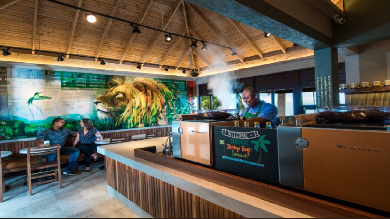 Starbucks first entered the local market, when it officially opened a cafe at Doctor's Cave Beach, in Montego Bay, last November.