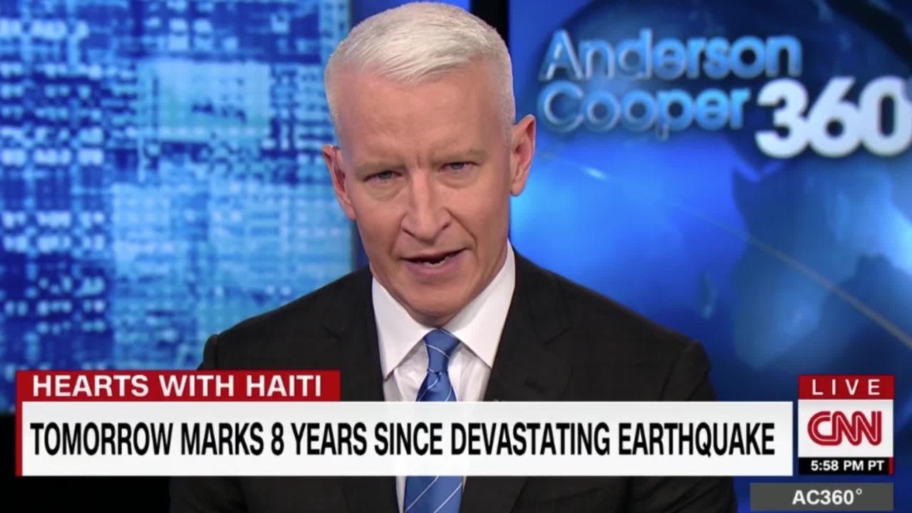 Anderson Cooper, présentateur de CNN aux États-Unis et ancien élève du professeur haïtien Yves Volel.