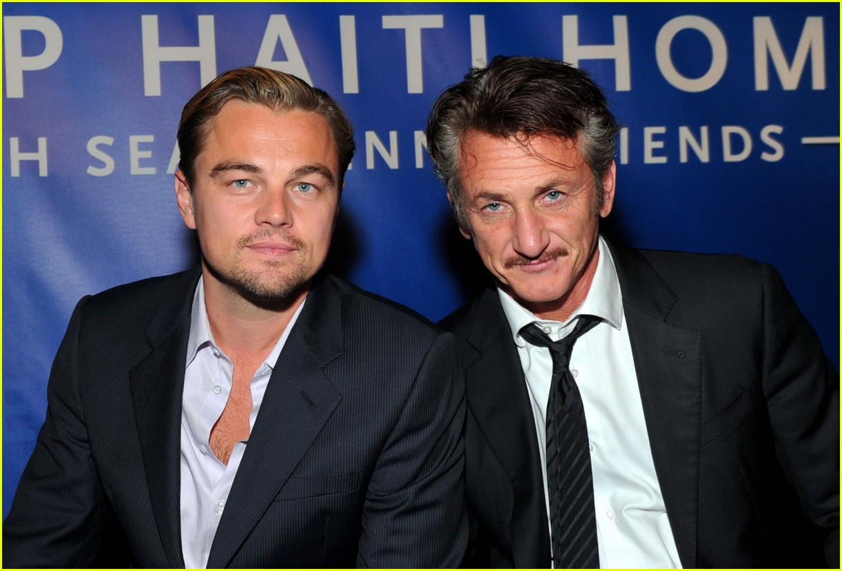 Leonardo DiCaprio (left) and Sean Penn (right).