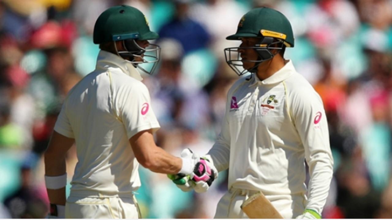 Australia captain Steve Smith and Usman Khawaja.