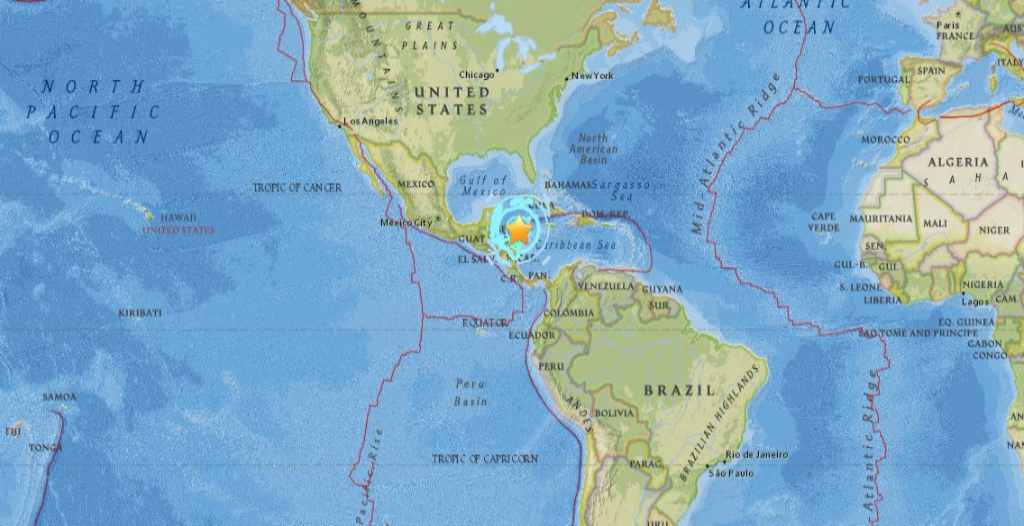 USGS: Magnitude 7.6 Earthquake Strikes Off Central America