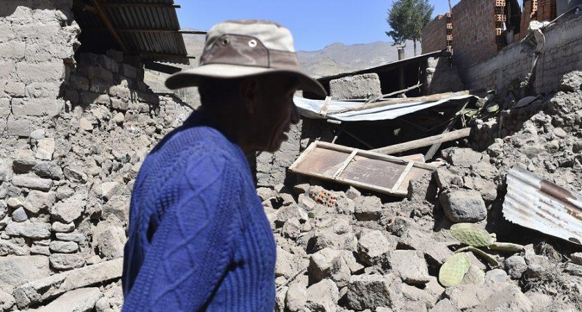 Le séisme de magnitude 7,3 qui a frappé dimanche matin le sud du Pérou. (photo: AFP)