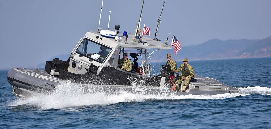 Un bateau de la garde-côte américaine