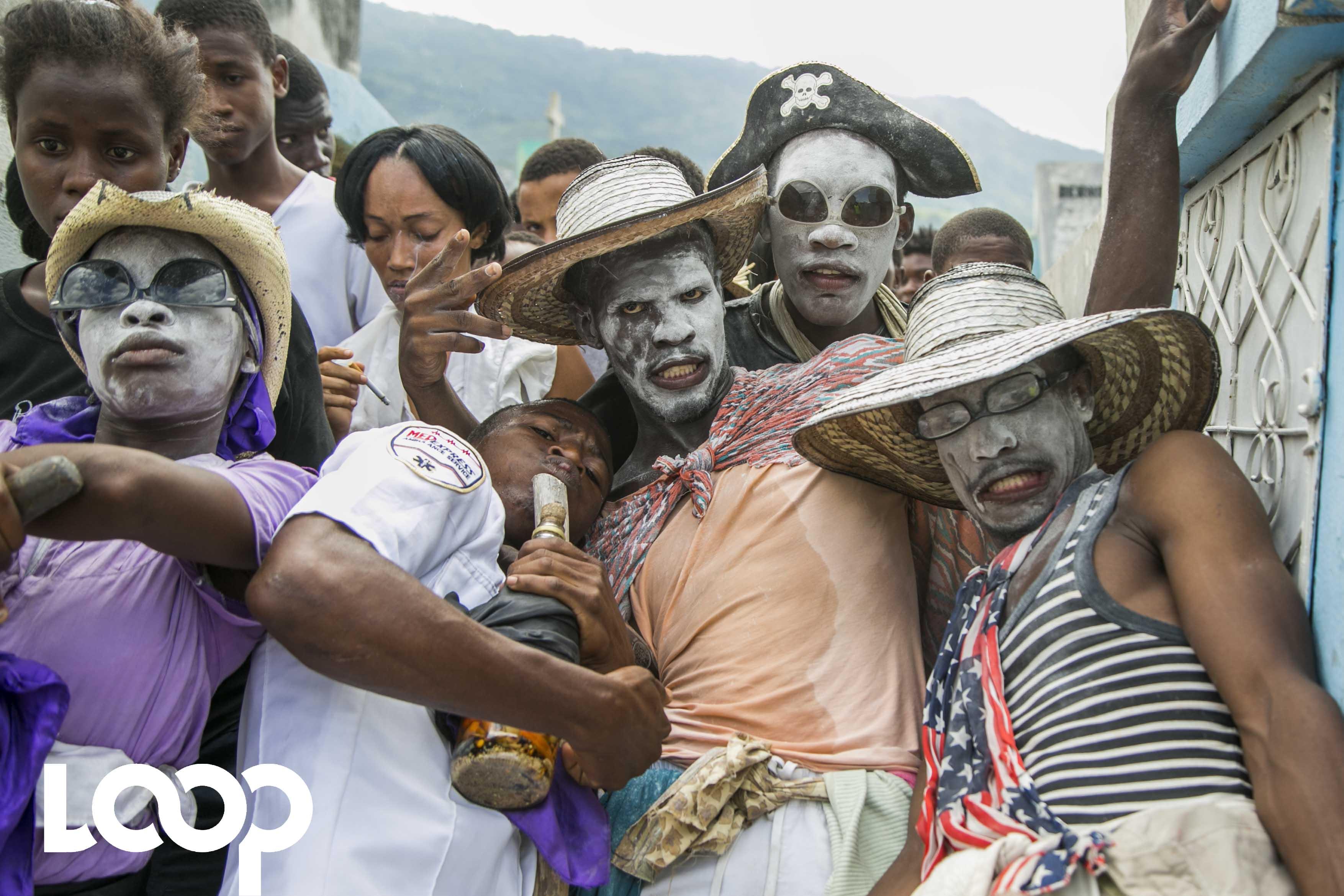 Guédé au cimetière de Port-au-Prince ce 1er novembre 2017, Photo : LoopHaiti/Vladjimir Legagneur