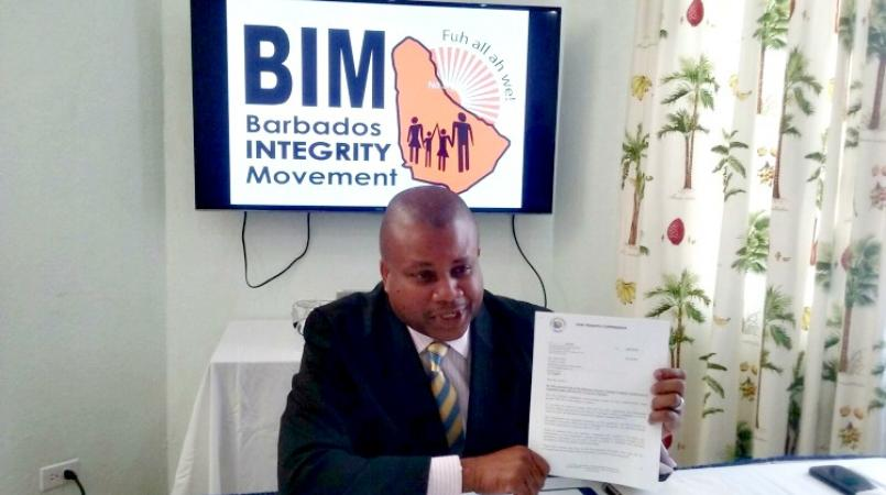 Leader of the Barbados Integrity Movement (BIM), Neil Holder.