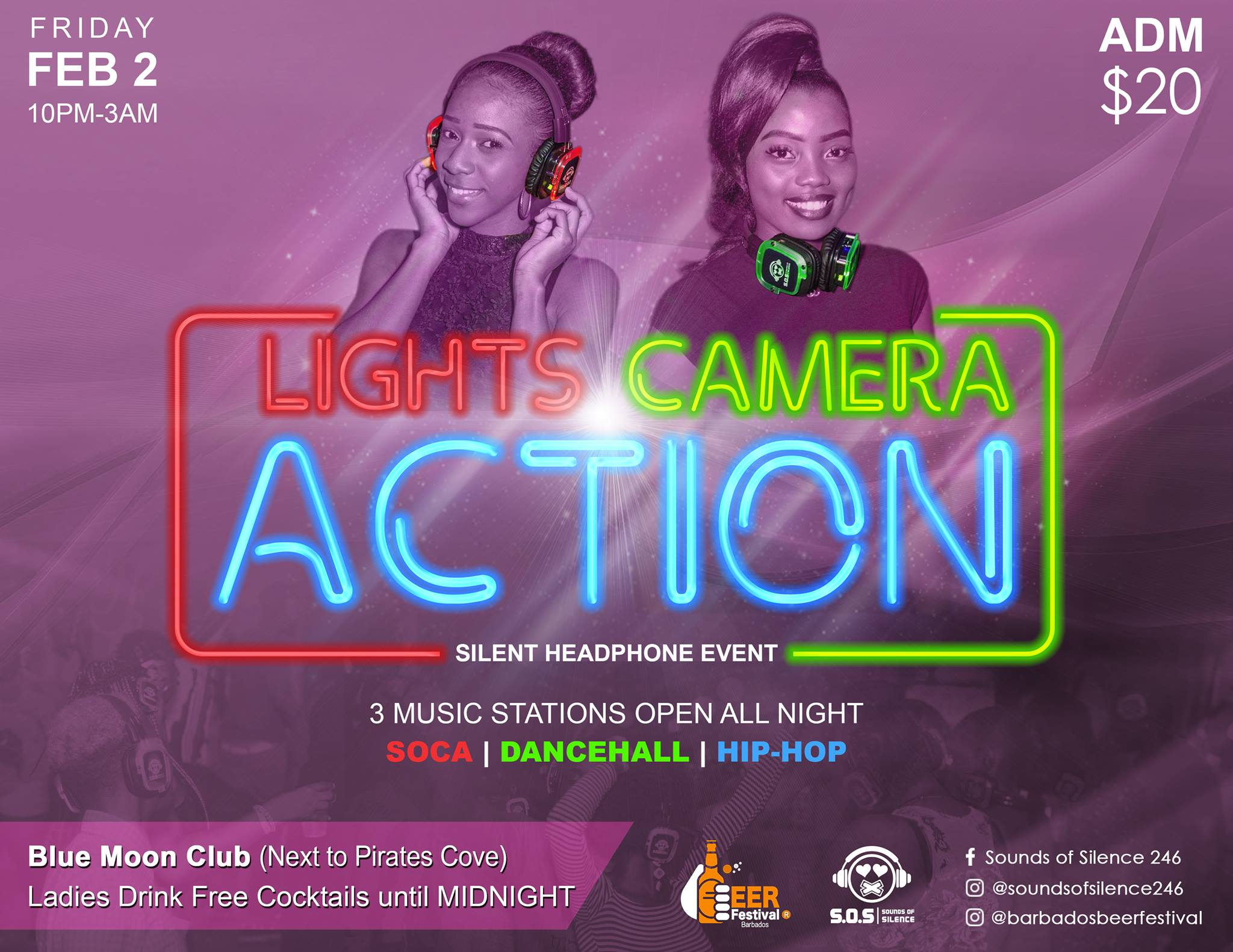 Silent event - Lights, Camera, Action