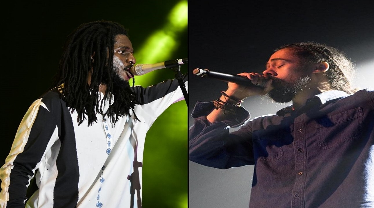 Chronixx (left) and Damian Marley