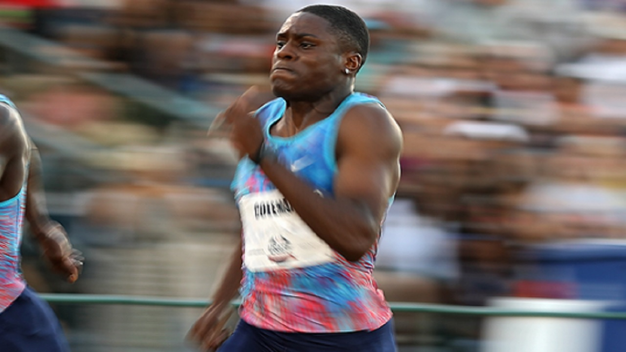 Coleman breaks world indoor 60m record with 6.37 seconds