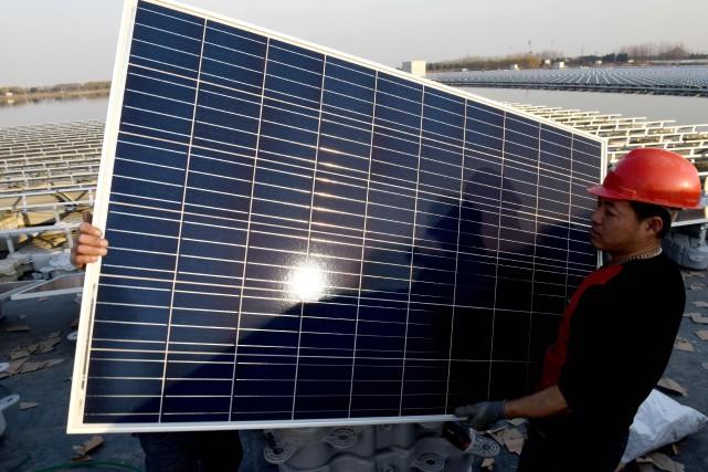 La Chine est déjà productrice de 60% des cellules photovoltaïques et de 71% des panneaux solaires dans le monde, affirme l'administration américaine. PHOTO : AFP