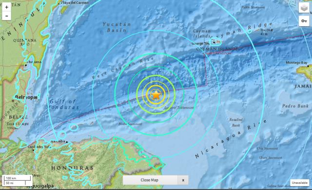 Alerte tsunami: Séisme d'une magnitude de 7,8 au large du Honduras