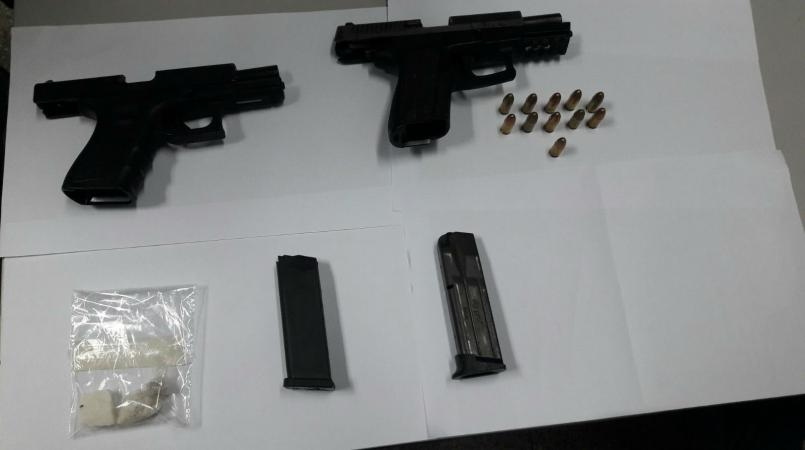 File photo of two guns recovered during a recent police operation.