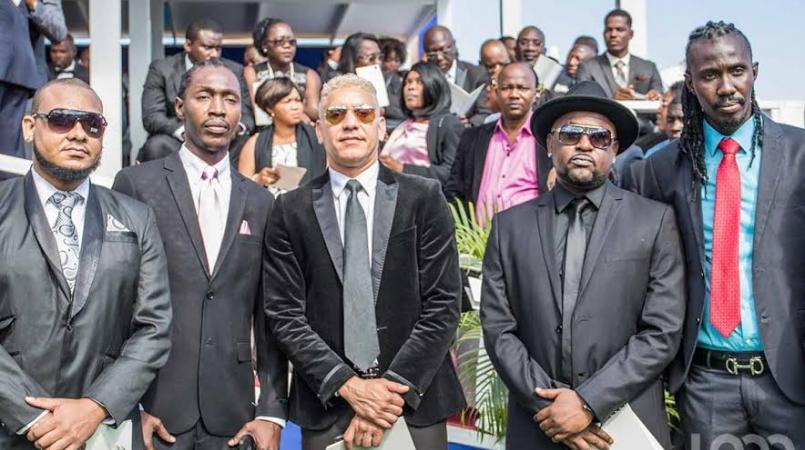 Artistes haïtiens à l'investiture de Jovenel Moise au Palais national, 7 février 2017. Photo : Vladjimir Legagneur