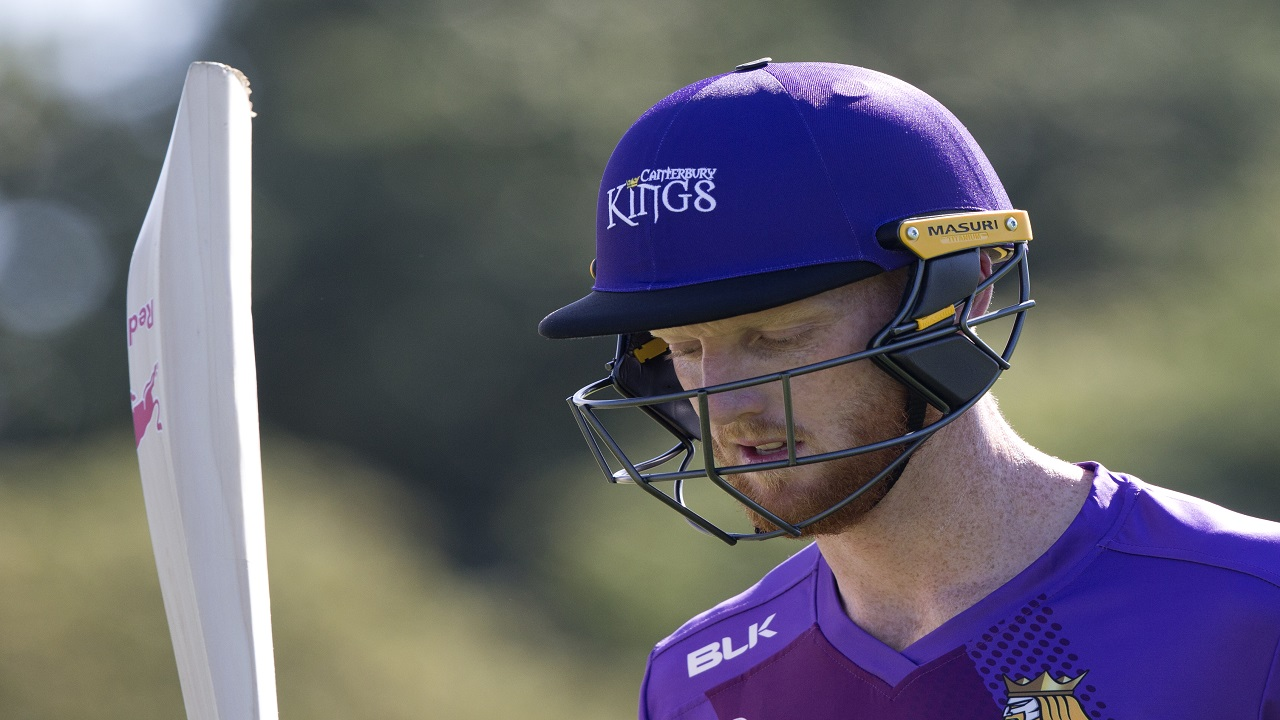 In this Thursday, Dec. 14, 2017 file photo, England cricketer Ben Stokes walks from the field following his innings of 93 runs in his match for the Canterbury Kings against the Otago Volts in a Twenty/20 match Christchurch, New Zealand.