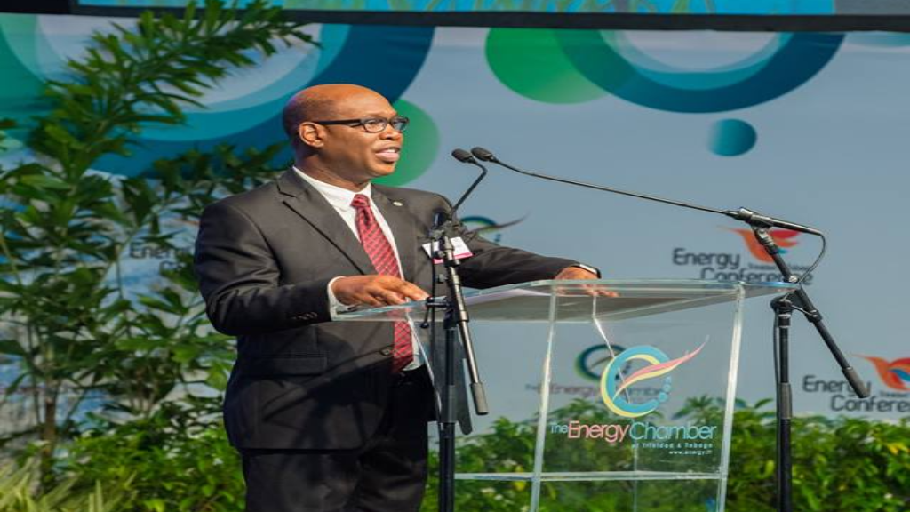 bpTT Regional President Norman Christie delivers the Sponsor's Remarks at the Opening Ceremony of the Trinidad and Tobago Energy Conference 2018 on Monday.
