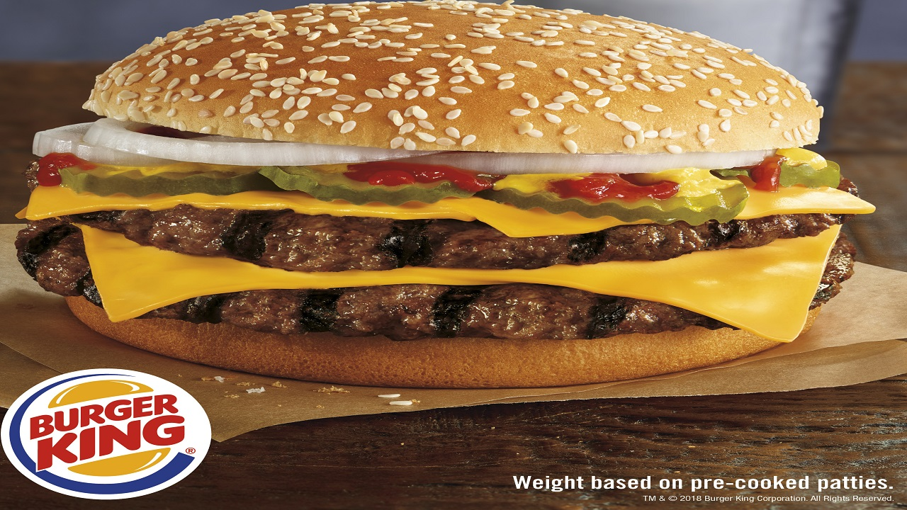 Burger King, owned by Oakville, Ontario-based Restaurant Brands Inc., says its new burger uses more than half a pound of beef before it is cooked.