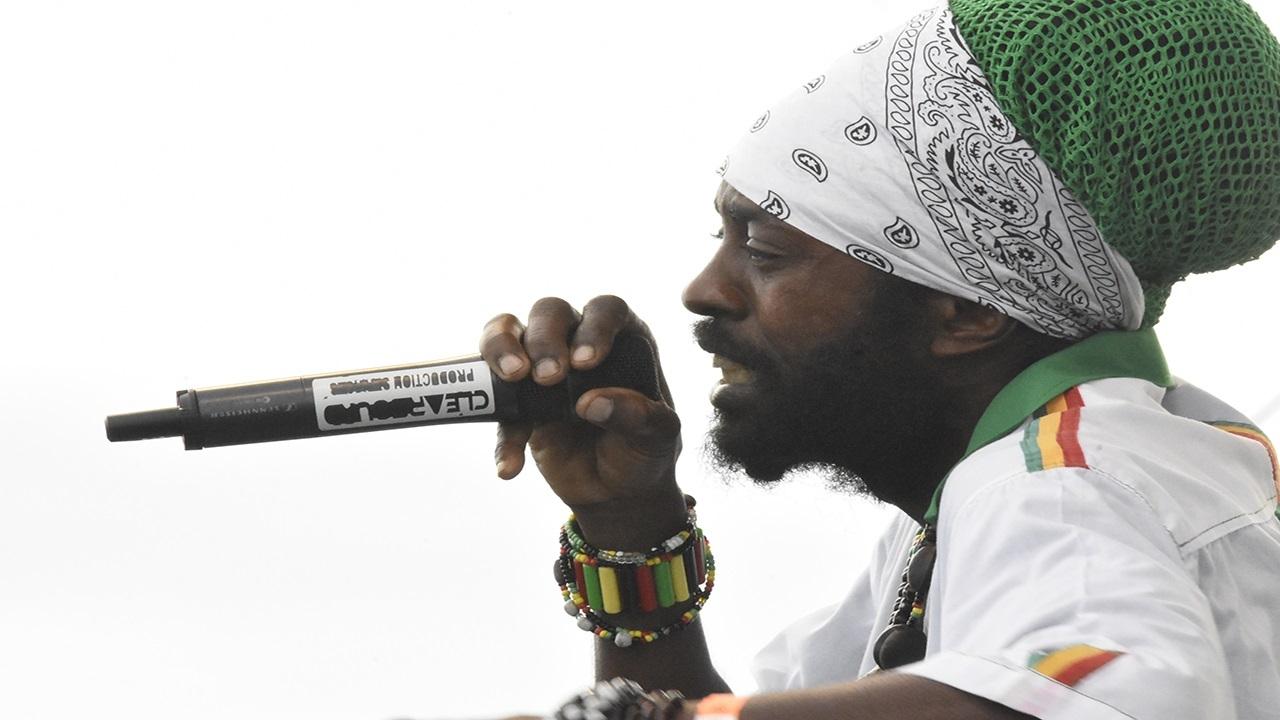 I Wayne performs at Rebel Salute on Sunday morning. (PHOTOS: Marlon Reid)