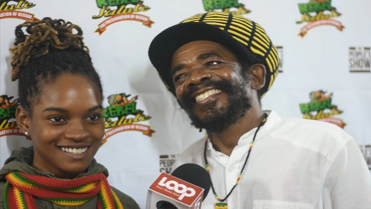Koffee with veteran reggae singer Cocoa Tea after their performance at Rebel Salute.