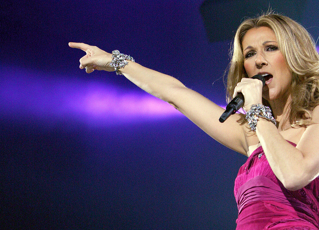 La chanteuse Celine Dion lors de sa tournée Taking Chances en 2008. Photo: Flick