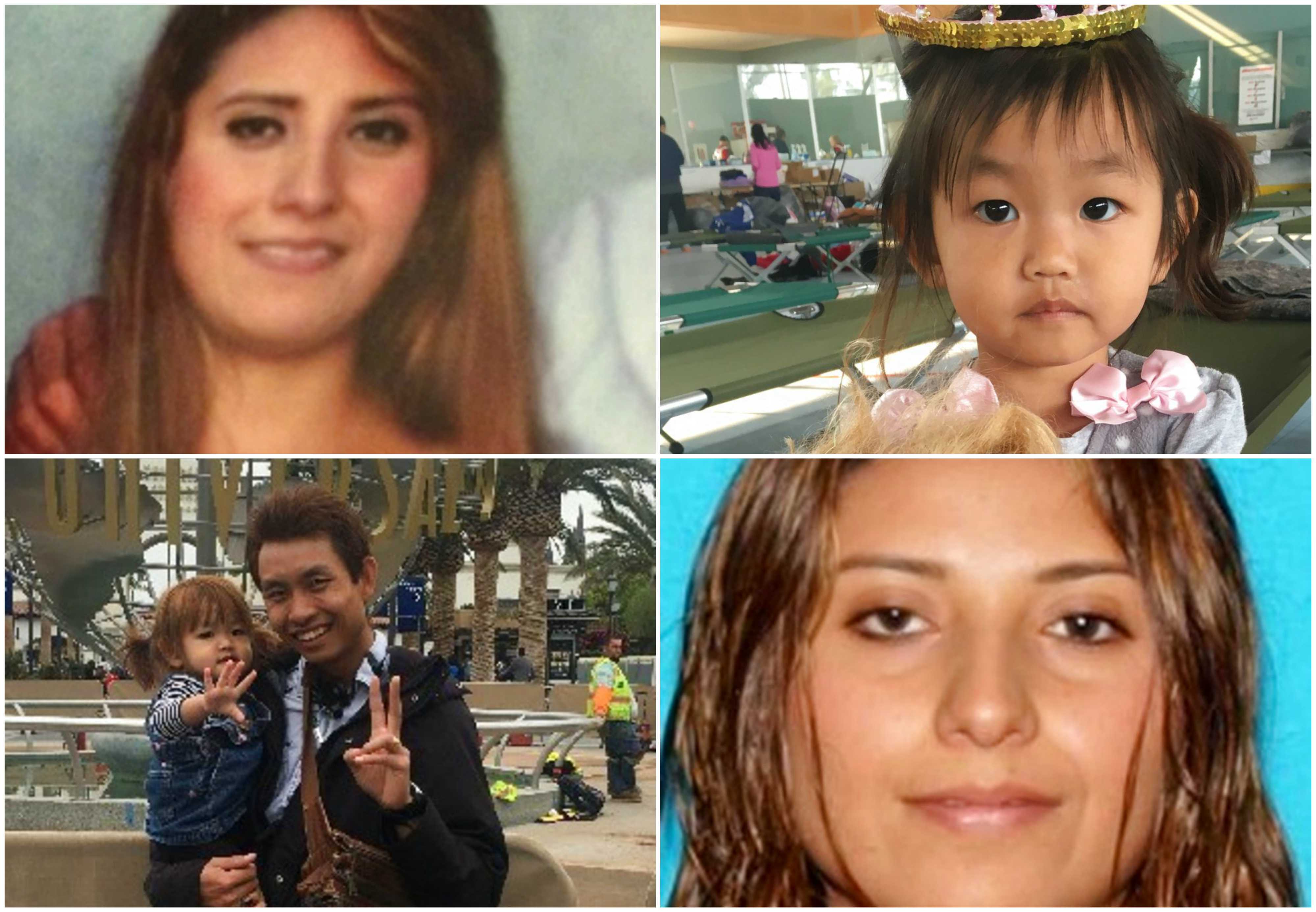 Some of those persons who are missing or whose bodies have been found after mudslides in California.